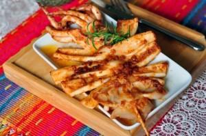 Mực nướng cay theo kiểu Hàn Quốc